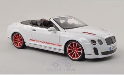 Bentley Continental T 1/18 Bburago Supersports Convertible ISR blanche/Dekor miniature