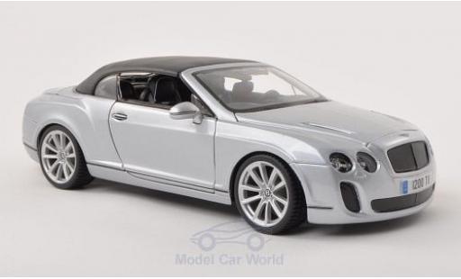 Bentley Continental T 1/18 Bburago Supersports Convertible grigio Verdeck geschlossen modellino in miniatura