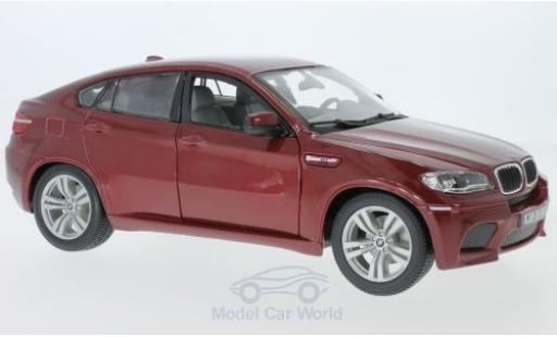 Bmw X6 1/18 Bburago M metallise red 2008 diecast model cars