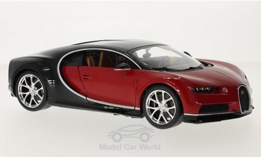 Bugatti Chiron 1/18 Bburago red/black diecast model cars