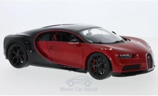 Bugatti Chiron 1/18 Bburago red/black Sport diecast model cars