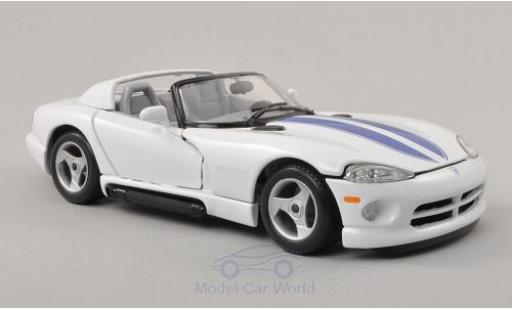 Dodge Viper 1/24 Bburago RT/10 blanche/bleue miniature