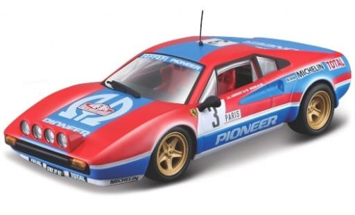 Ferrari 308 1/43 Bburago GTB No.3 Scuderia Pioneer Rally Monte Carlo 1982 J-C.Andruet/Biche miniature