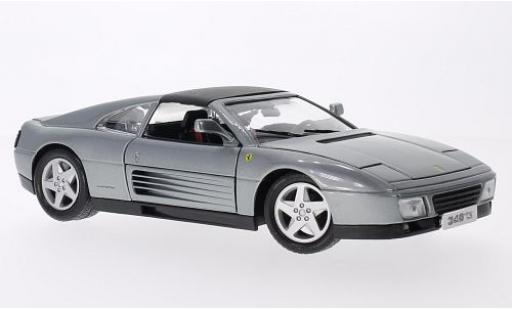 Ferrari 348 1/18 Bburago ts metallise grise miniature