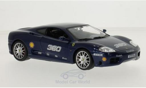 Ferrari 360 1/24 Bburago Challenge métallisé bleue No. miniature