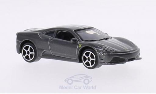 Ferrari 430 1/64 Bburago Scuderia métallisé grise miniature