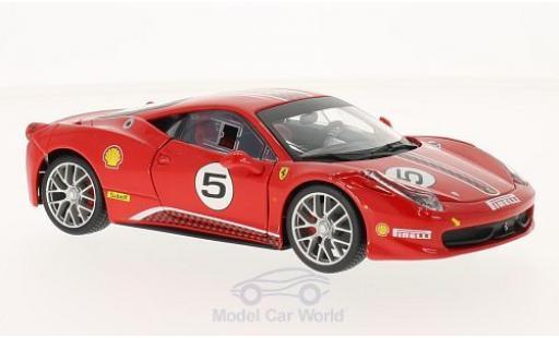 Ferrari 458 1/24 Bburago Challenge red No.5 diecast model cars