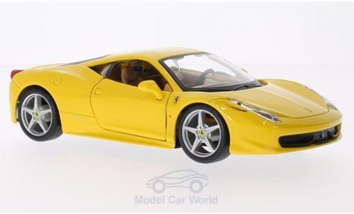 Ferrari 458 1/24 Bburago Italia jaune miniature