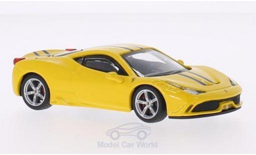 Ferrari 458 1/43 Bburago Speciale jaune/Dekor miniature