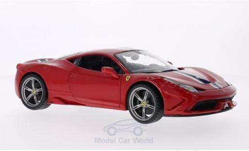 Ferrari 458 1/18 Bburago Speciale red diecast model cars