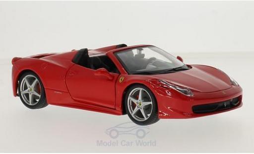Ferrari 458 1/24 Bburago Spider red diecast model cars