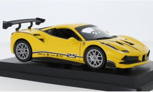 Ferrari 488 1/24 Bburago Challenge yellow No.25 diecast model cars