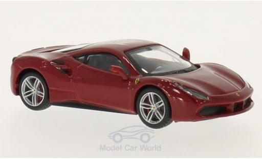 Ferrari 488 1/43 Bburago GTB rouge miniature