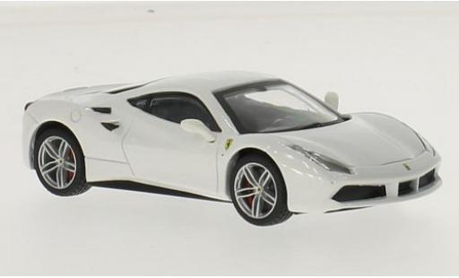 Ferrari 488 1/43 Bburago GTB blanche miniature