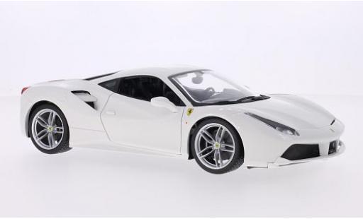 Ferrari 488 1/18 Bburago GTB blanche 2014 miniature