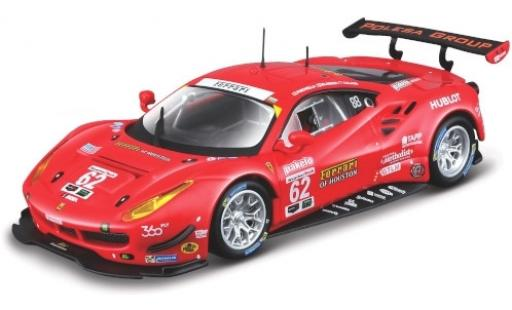 Ferrari 488 1/43 Bburago GTE No.62 of Houston 24h Daytona 2017 G.Fisica/T.Vilander/J.Calado diecast model cars