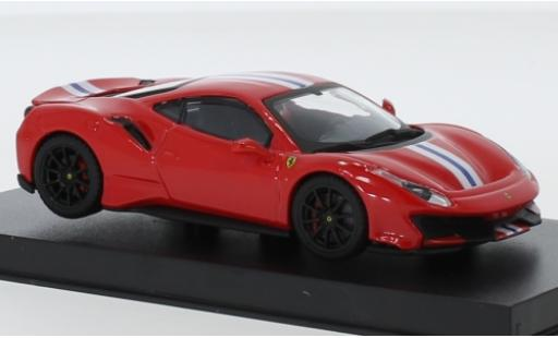 Ferrari 488 1/43 Bburago Pista red/white diecast model cars