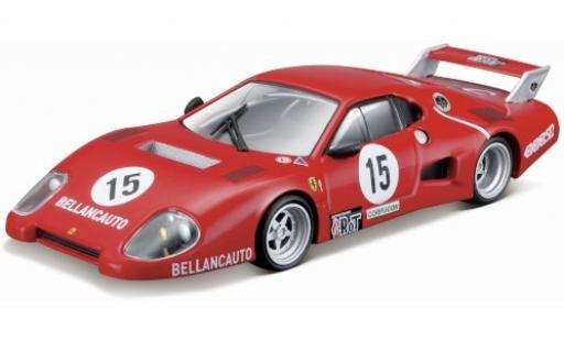 Ferrari 512 1/43 Bburago BB Series II No.15 Bellancauto 1000km Monza 1981 M.Flammini/S.Dini/F.Violati coche miniatura