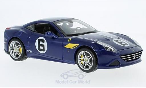 Ferrari California 1/18 Bburago T bleue The Sunoco 70 Jahre miniature
