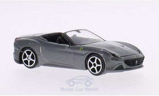 Ferrari California 1/64 Bburago T metallise grey diecast model cars