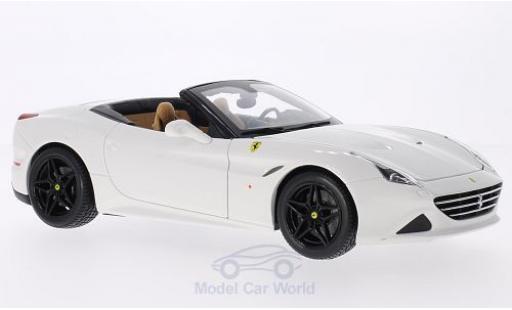 Ferrari California 1/18 Bburago T white diecast model cars