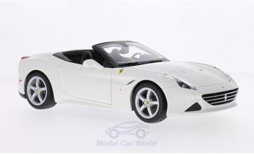 Ferrari California 1/18 Bburago T blanche 2014 offen ohne Vitrine miniature