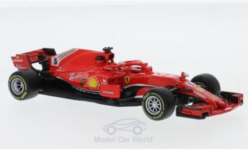 Ferrari F1 1/43 Bburago No.5 Formel 1 2018 S.Vettel modellino in miniatura
