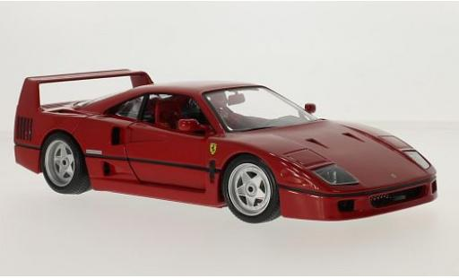 Ferrari F40 1/18 Bburago red 1990 diecast model cars