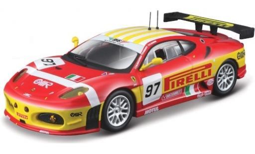 Ferrari F430 1/43 Bburago GTC No.97 BMS Scuderia Italia Pirelli 24h Le Mans 2008 F.Babini/M.Malucelli/P.Ruberti diecast model cars