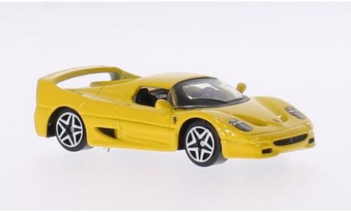 Ferrari F50 1/64 Bburago yellow diecast model cars