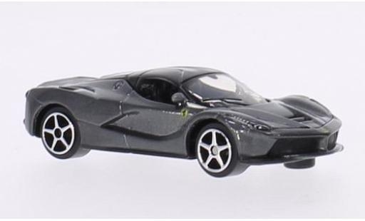 Ferrari LaFerrari 1/64 Bburago La metallise grey diecast model cars