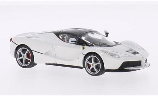 Ferrari LaFerrari 1/43 Bburago La white diecast model cars