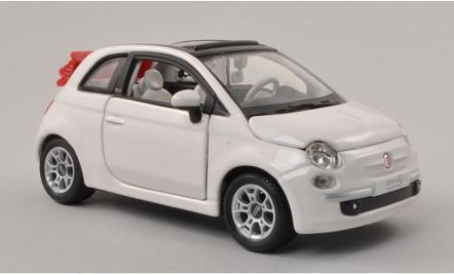 Fiat 500 1/24 Bburago C Cabriolet white Verdeck ouvert diecast model cars