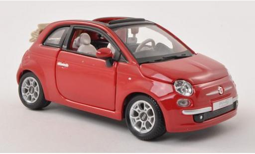Fiat 500 1/24 Bburago C red Verdeck ouvert diecast model cars