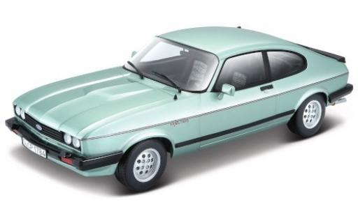 Ford Capri 1/24 Bburago MK III 2.8 Injection métallisé verte 1982 miniature