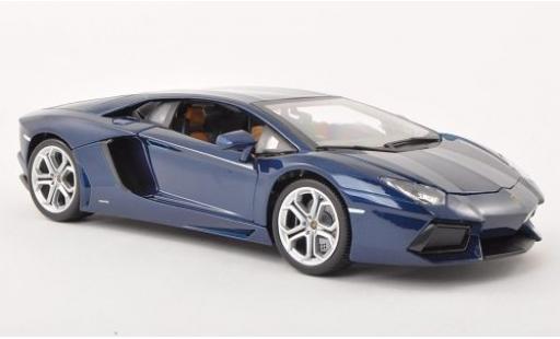 Lamborghini Aventador 1/18 Bburago LP700-4 metallise blue 2011 diecast model cars