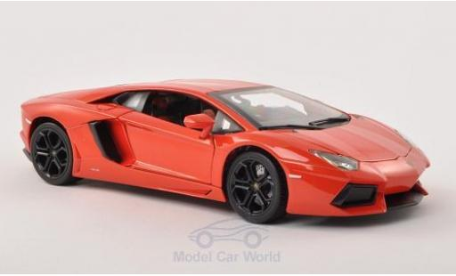 Lamborghini Aventador LP700-4 1/18 Bburago metallise orange 2011 diecast model cars