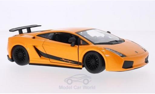 Lamborghini Gallardo Superleggera 1/24 Bburago metallise orange 2003 diecast model cars