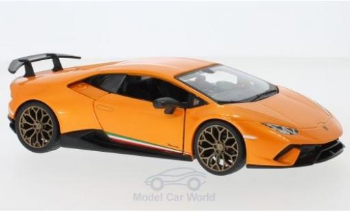 Lamborghini Huracan 1/24 Bburago Performante orange diecast