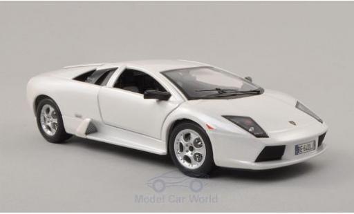 Lamborghini Murcielago 1/24 Bburago metallise blanche 2002 miniature