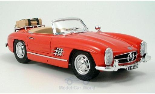 Mercedes 300 1/18 Bburago SL Touring Cabriolet rouge 1957 ohne Vitrine miniature