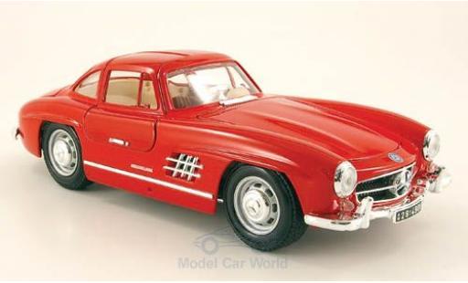 Mercedes 300 SL 1/18 Bburago SL (W198) rouge miniature