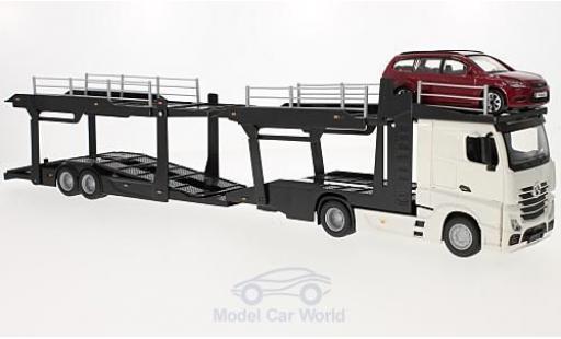 Mercedes Actros 1/43 Bburago 2545 Autotransporter mit Ford Focus Turnier miniature