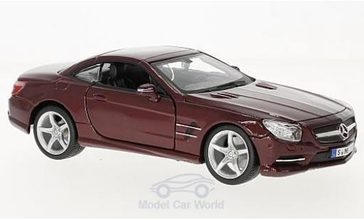Mercedes Classe SL 1/24 Bburago SL 500 (R231) metallise rouge miniature