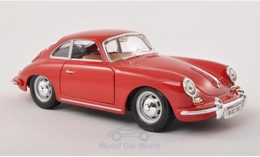 Porsche 356 1/24 Bburago B red 1961 diecast model cars