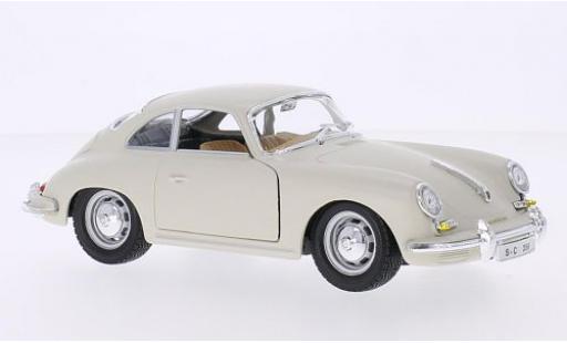 Porsche 356 1/24 Bburago B white 1961 diecast model cars