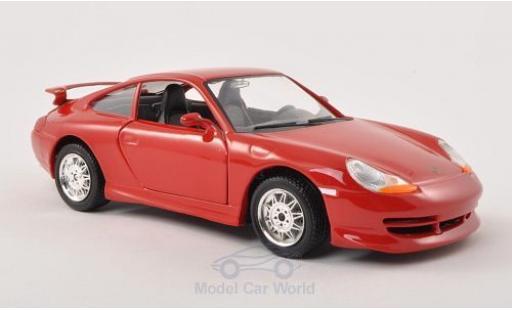Porsche 996 GT3 1/24 Bburago 911  rouge miniature