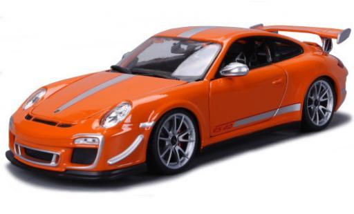 Porsche 997 GT3 RS 1/18 Bburago 911 4.0 (/II) orange/grise 2012 miniature