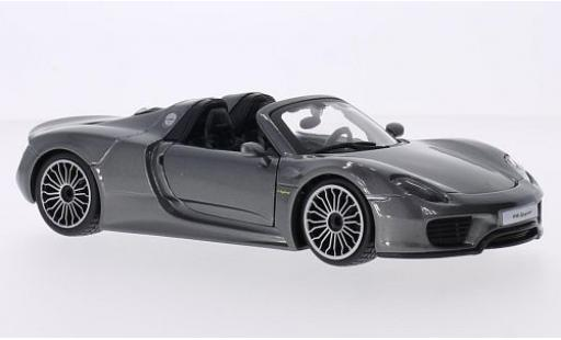 Porsche 918 1/24 Bburago Spyder metallise grey diecast model cars