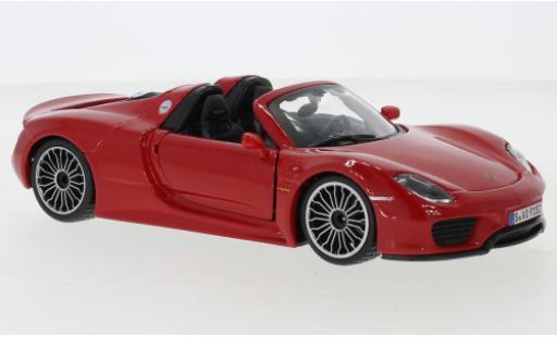 Porsche 918 1/24 Bburago Spyder red 2015 diecast model cars